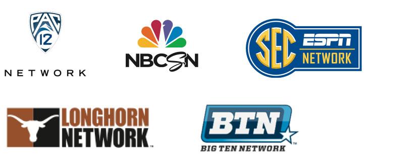 Pac 12 Network, SEC ESPN Network, Longhorn Network, BTN | Big Ten Network